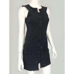 Isabel Marant charcoal eyelet embroidered dress